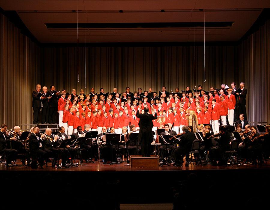 Choir with Menorah